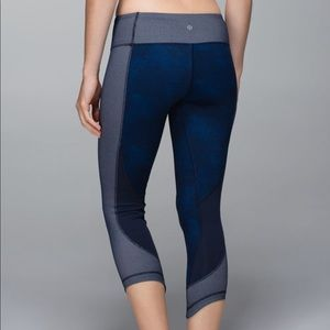 Lululemon | Wunder Under Crop*Sashiko